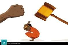 Caricatura - Dupla violência