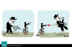 Caricatura - Tudo que se planta um dia se colhe