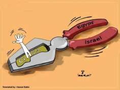 Gaza entouré par Egypte et Israël