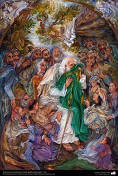 """""""El aroma en la camisa de los amados profetas Jacob y José"""",Obras maestras de la miniatura persa; Artista Profesor Mahmud Farshchian"""