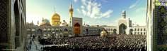 El azalá colectivo en el Santuario del Imam Riḍā (P), ciudad de Mashhad