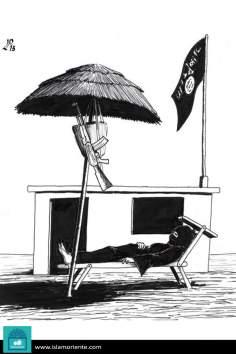 Caricatura - O descanso