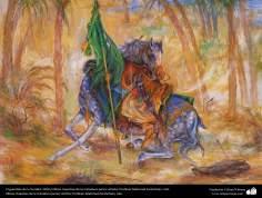 El guardián de la Verdad. 2010  Obras maestras de la miniatura persa; Artista Profesor Mahmud Farshchian, Irán