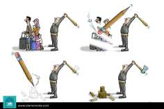 Caricatura - O poder da mídia