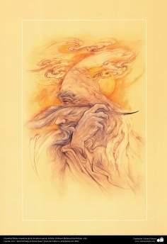El poeta Obras maestras de la miniatura persa; Artista Profesor Mahmud Farshchian