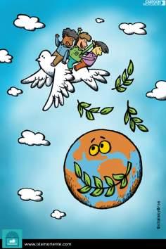 El vuelo de la paz (Caricatura)
