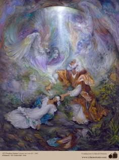 Исламское искусство - Шедевр персидской миниатюры - Мастер Махмуда Фаршчияна -Пророк Исмаил (мир моря с ним)