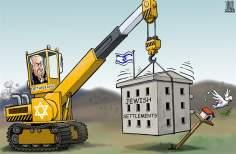 El asentamiento israelí (Caricatura)