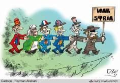 シリアの戦争のの支持者の運命! (漫画)