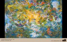 Fifth day of creation - Persian painting - Farshchian