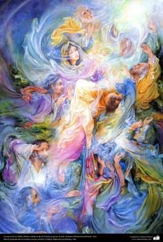 Encomio de luz 2002  Obras maestras de la miniatura persa; Artista Profesor Mahmud Farshchian, Irán