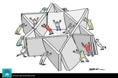 Dummy institutions (caricature)
