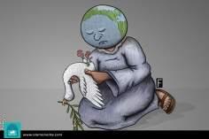 Entre la vida y la muerte (Caricatura)
