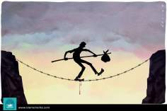 Deadly balance (caricature)