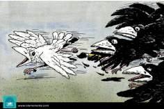 Escape de la podredumbre (Caricatura)
