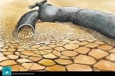 Escaso de agua (III) - Caricatura