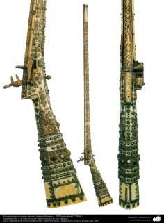 Espingardas com ornamentos requintados - Império Otomano - 1028 Hégira (1778 d.C)