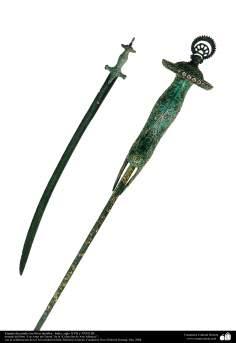 أدوات قديمة من الحرب و دیکورات - السيف القتال الفينيل - القرن السابع عشر الميلادي والثامن عشر
