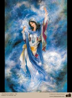 Estrella de la mañana- Pintura Persa- Farshchian