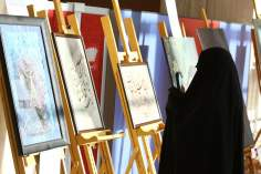 La foto del giorno-Esibizione della calligrafia