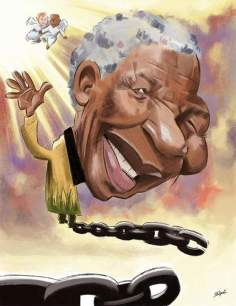 No Fallece Mandela, símbolo del movimiento anti-Apartheid (Caricatura)
