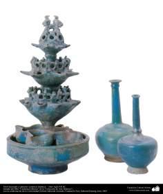イスラム美術(イスラム陶器やセラミックス - 古い粘土瓦・シアン噴水機 - 12世紀)