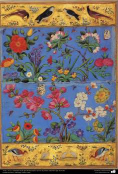 """Flor e Ave""- miniatura feita por Mohammad Yussuf na primeira metade do século XVII d.C - 13"
