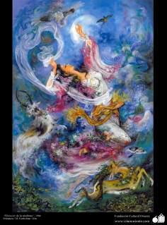 イスラム美術(マフムード・ファルシチアン画家のミニチュア傑作_「繁栄の朝」