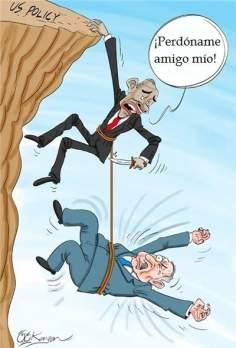 Fracaso diplomático del régimen de Israel (Caricatura)