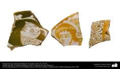 Fragmente der Islamischen Keramiken - Ägypten, X. und XI. Jahrhundert n.Chr. - Islamische Kunst - Islamische Potterie - Islamische Keramik