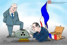 France et Israël (Caricature)
