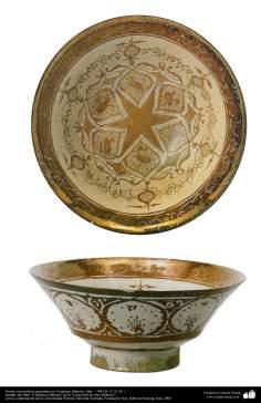 Fuente con motivos geométricos; Cerámica islámica, Irán –  504 HL (1111 dC.)