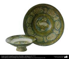 Sources with plant and animal motifs - Iran, Kashan - early thirteenth century AD. (60)