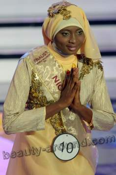 نيجيرية تفوز بمسابقة ملكة جمال العالم الإسلامي في إندونيسيا