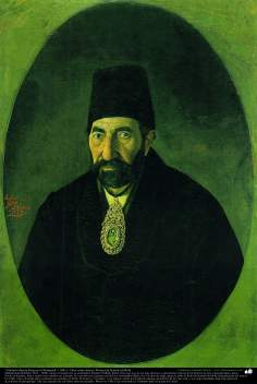 """Gholam Husein Khazen ol-Mamalek"" (1881) - Oil on Canvas; Painting by Kamal ol-Molk"