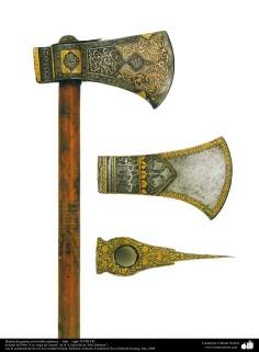 Hatchet with beautiful ornaments - Iran - DC eighteenth century.