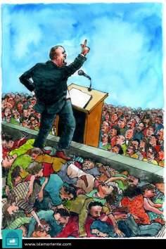 Il diritto umano (Caricatura)