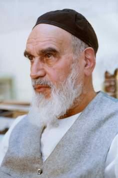 Imam Khomeini in seinem Heim