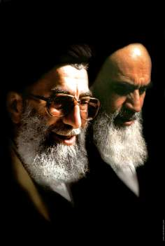 Imam Khomeini and actual Leader of the Islamic Revolution, Sayyed Ali Khamenei