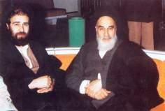 Imam Khomeini com seu filho