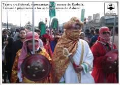Tradiotionelle, theatralische Aufführung während den Aschura Zeremonien - Imam Huseyn (a.s.) - Foto