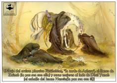 پوسٹر - امام حسین (علیه السلام) - ظہر عاشورا - استاد فرشچیان کی پینٹنگ - ۲۸