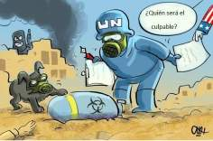 国連の査察官は、シリアに戻る(漫画)