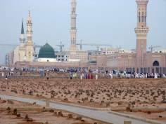 Yannatul Baqi Cemetery where many holy personalities of Islam are buried like Imam Ya'far as-Sadiq, Imam Baquer, Imam Hasan and Imam Zaynul 'Abidin (a.s.) in Medina - Saudi Arabia
