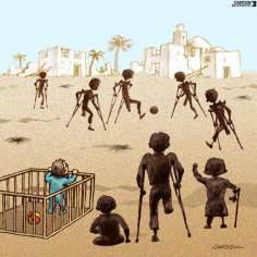 Juego de niños de Gaza en el futuro (Caricatura)