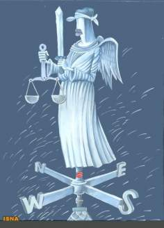 Caricatura - Justiça norte americana