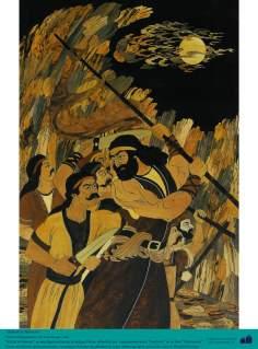 Kāveh o ferreiro - Personagem do épico Persa Shahnameh - Marchetaria Persa