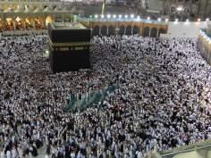 الكعبة فی المسجد الحرام في مكة المكرمة (الحجاز-العربية)