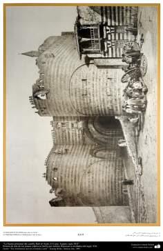 """اسلامی معماری اور پینٹنگ - """"ارگ باب العذاب"""" نام کی عمارت کے مرکزی دروازے کی ڈیزاین شہر قاہرہ میں ، مصر - تیرہویں صدی عیسوی"""