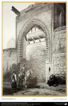 L'art et l'architecture islamique dans les peintures - la porte, le palais du sultan Baybars, Egypte, XIII siècle